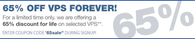 65% off cheapvps coupon code 65sale